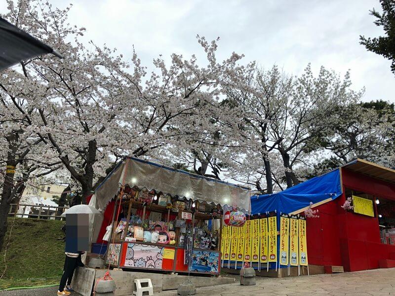 函館公園花見の露店